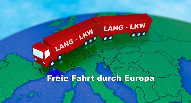 Lang-Lkw,freie Fahrt durch Europa