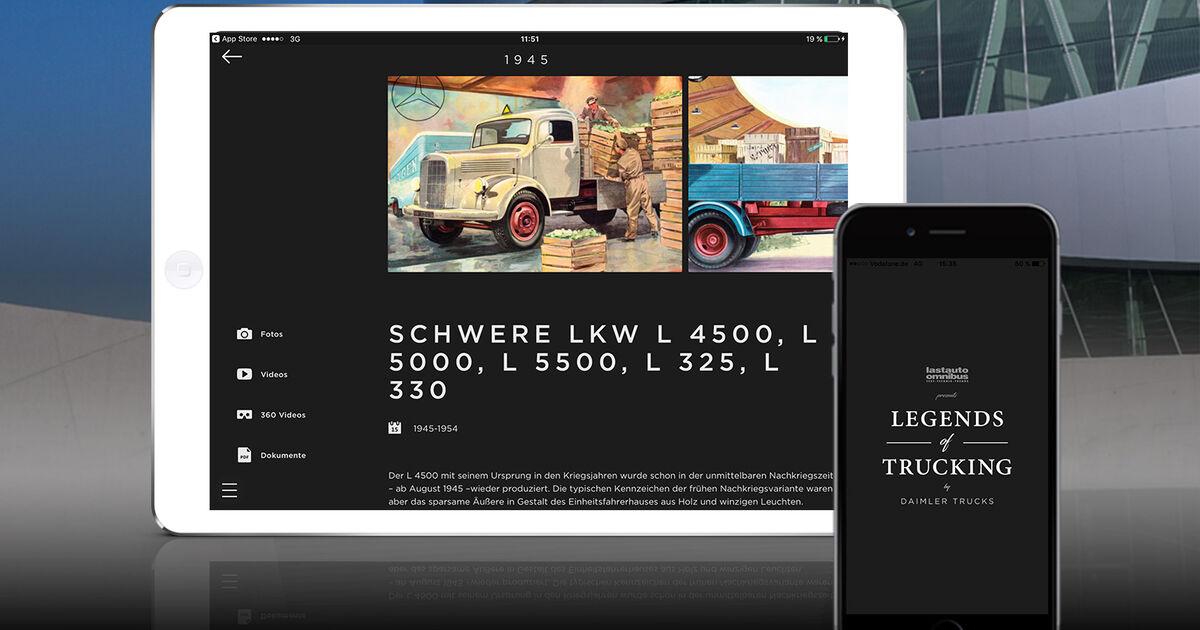 legends of trucking 120 jahre daimler lkw in einer app. Black Bedroom Furniture Sets. Home Design Ideas