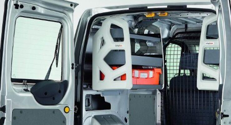 Leichte Regale für Kleintransporter