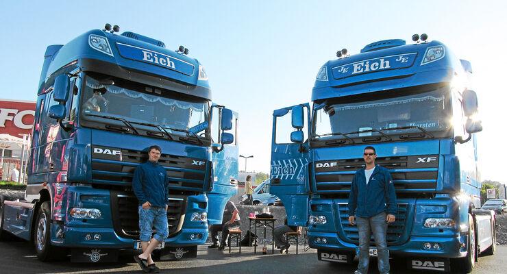 Leser und ihre Trucks, Matze Serfling und Thorsten Steinbrecher
