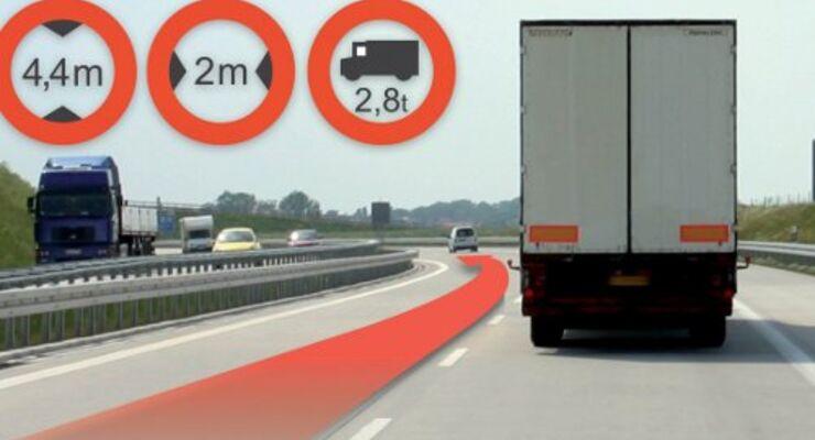 Lkw-Navigation geht an den Start