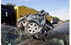 Lkw-Unfall, A1, 4 Pkw ineinandergeschoben