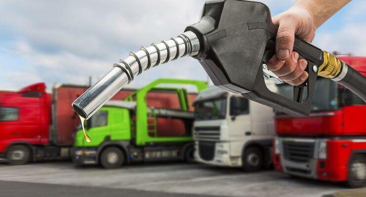 Lkw, Verbrauch, Diesel, Zapfpistole, Zapfhahn