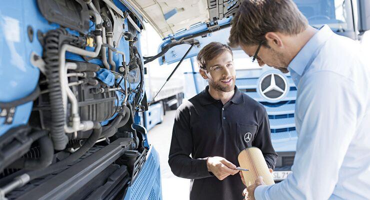 Lkw-Werkstatt Daimler Trucks