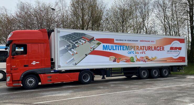 Lkw von Meyer Logistik Österreich
