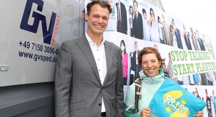 Logistiker René Große-Vehne und Ausdauersportlerin Camilla Kranzusch