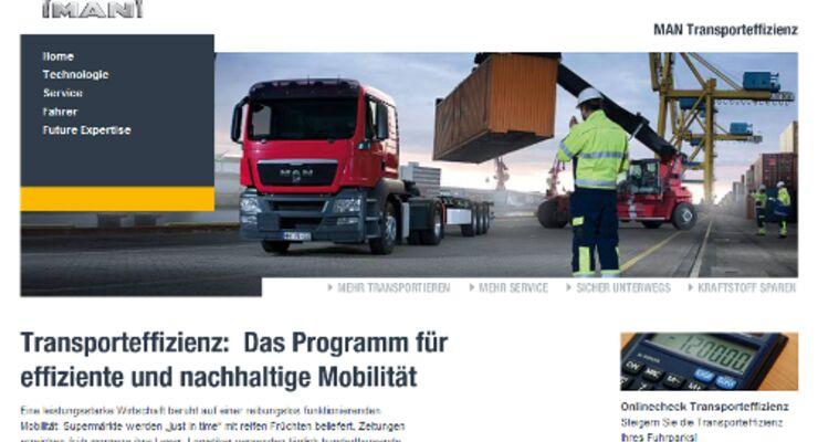 MAN startet Webseite zur Transporteffizienz