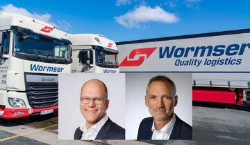 Martin Nether und Bertram Rupprecht leiten die Spedition Wormser.