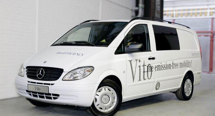Mercedes-Benz Vito fährt mit Elektromotor