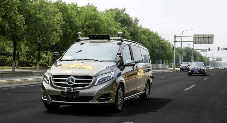 Mercedes-Benz teste autonomes Fahren in Peking