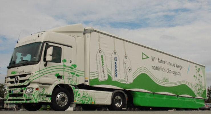 Mit Aerodynamik Diesel sparen