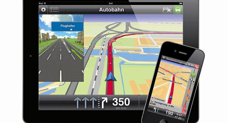 Navigations, App, Rutenführung