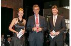 Nfz-Versicherung, v. li.: Alexandra von Lingen, Dr. Edgar Martin, R+V Allgemeine Versicherung AG, Werner Faas