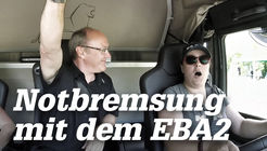 Notbremsung mit dem MAN EBA2
