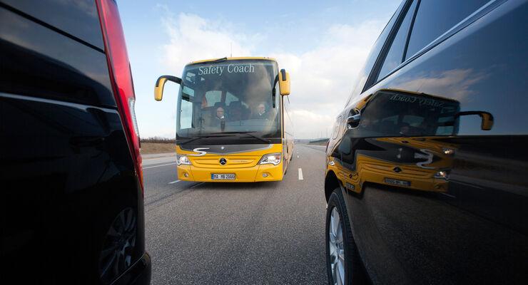 Nutzenpotenzial von Assistenzsystemen, Mercedes, Buss