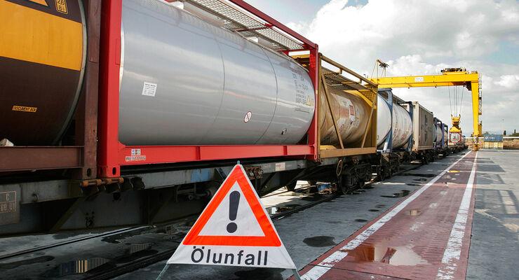 Ölunfall in einer Umschlaganlage des Kombinierten Verkehrs