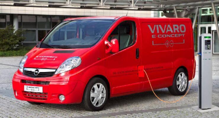 Opel stellt Elektro-Transporter vor