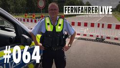 PHK Tom Fiala vor der Sperrung der A1 nach der Flutkatastrophe