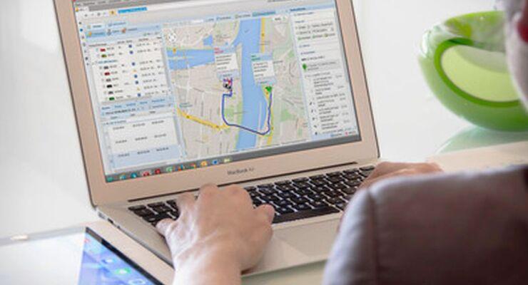 PTC Routenplaner Tablet Navigation Telematik