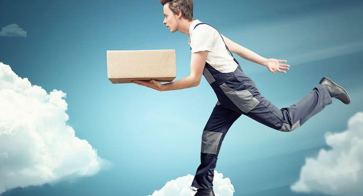 Paket, Kep, Dienstleister, Wolken