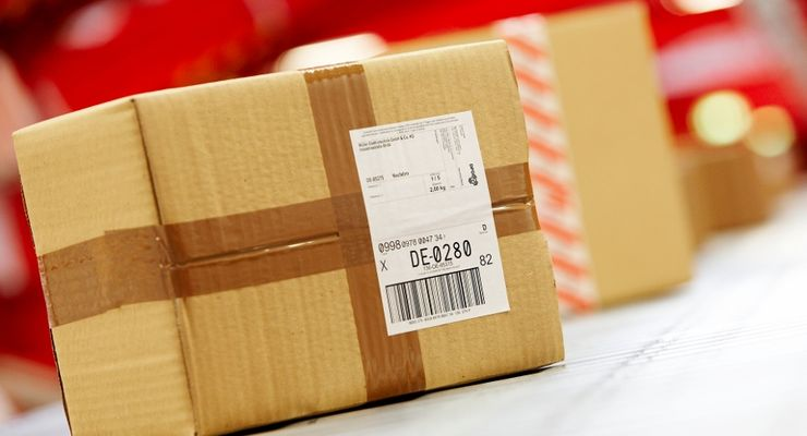 Paket, Paketband, Förderband, DPD