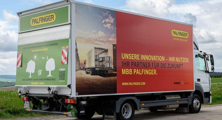 Palfinger, Hubladebühne, lkw, 7,5 Tonner, MBB C1000E