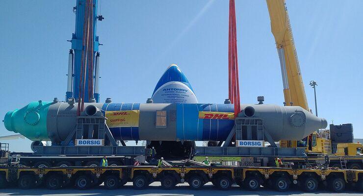 DHL befördert 140-Tonnen-Kessel von Berlin nach Saudi-Arabien ...