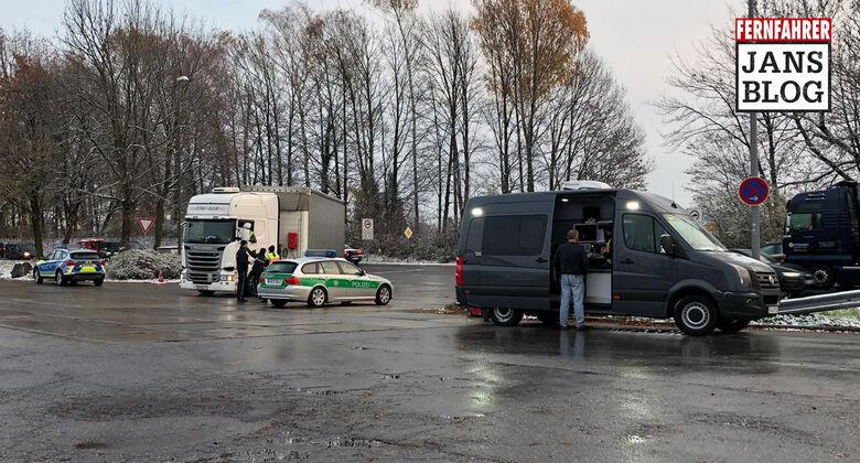 Polizeikontrolle Lkw