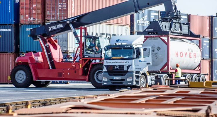 Reachstacker, Duisport, Container