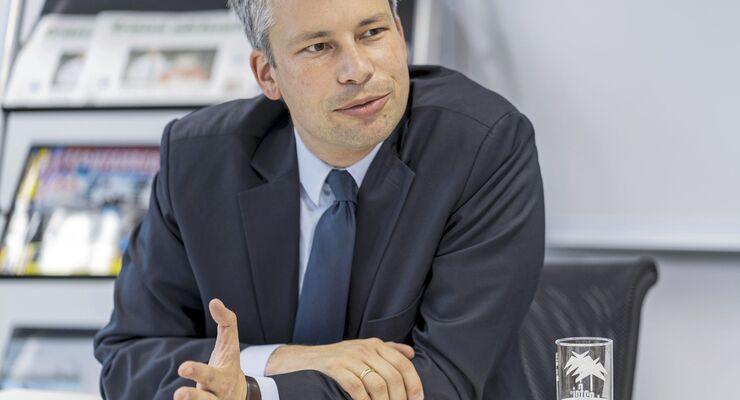 Redaktionsgespräch Steffen Bilger, Bundesministerium für Verkehr und digitale Infrastruktur, Parlamentarischer Staatssekretär