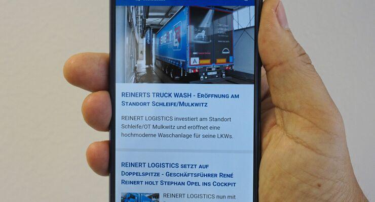 Reinert Logistic Inside blue App