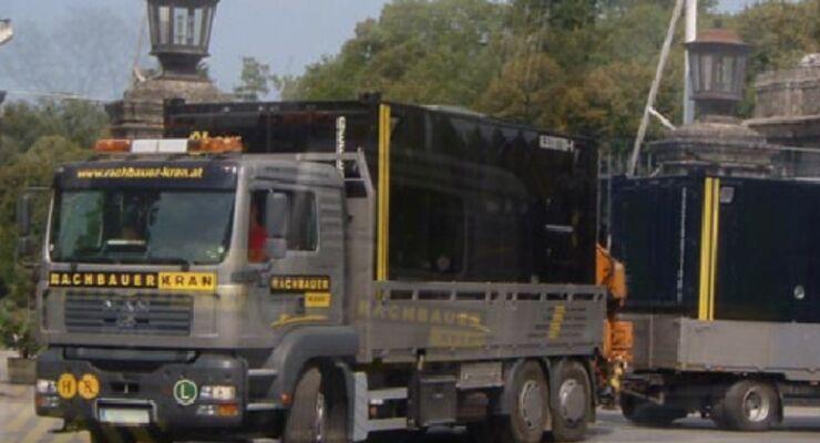 Sammeltaxi für Baustellen-Container