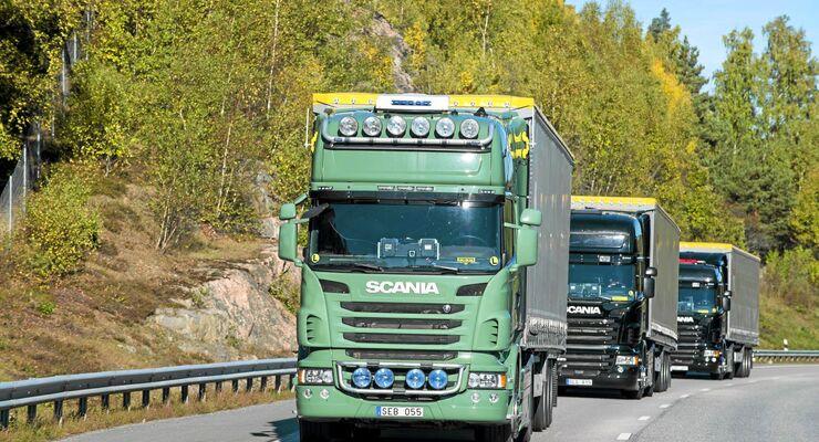 Scania, Platooning, Schweden, Lkw