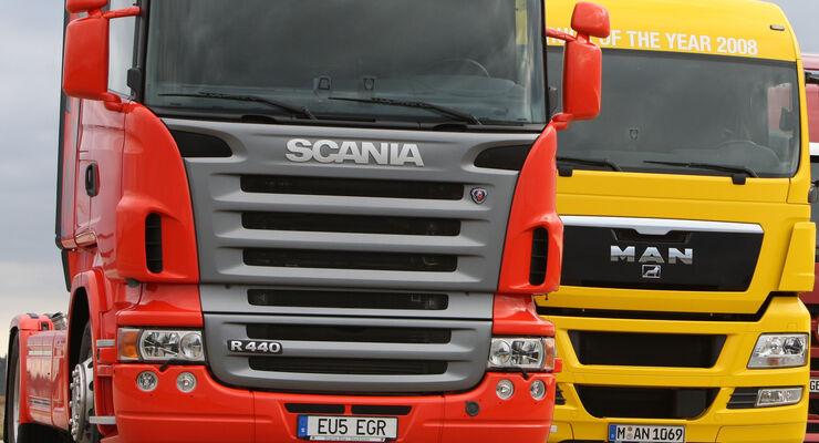 Scania und MAN sind Teil von Traton
