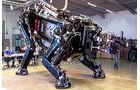 So sieht das Skelett des Schreitroboters aus.