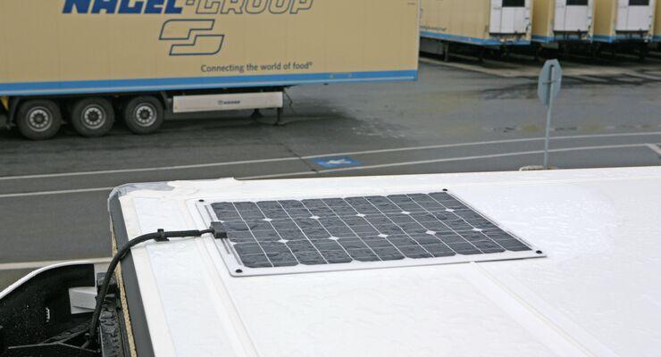 Solarpanel auf Trailer der Nagel-Group