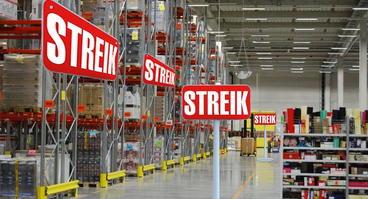 Streik, Amazon, Lager Bad Hersfeld