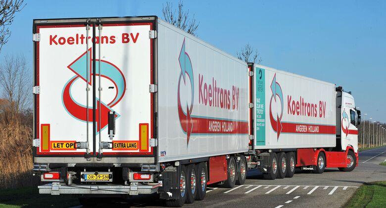 Super EcoCombi Lang-Lkw DuoTrailer Niederlande Koeltrans BV Scania 2020