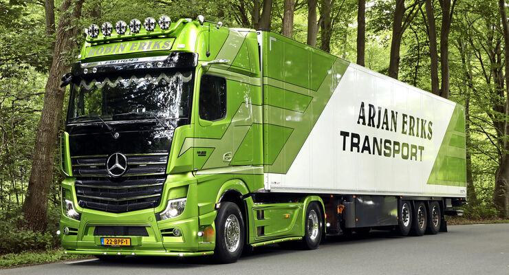 Supertruck Mercedes Actros, Arjan Eriks Transport, FF 11/2020.