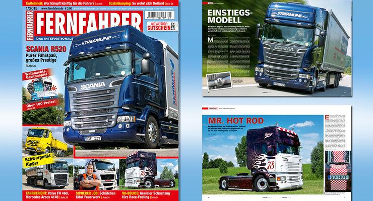Titelmontage FERNFAHRER Ausgabe 01/2015