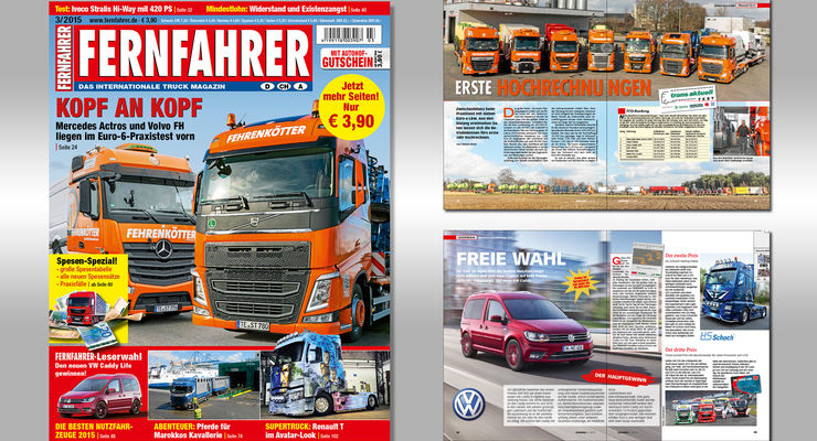 Titelmontage FERNFAHRER Ausgabe 03/2015