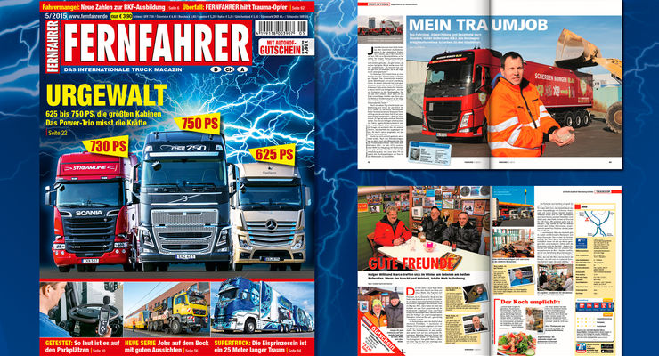 Titelmontage FERNFAHRER Ausgabe 05/2015