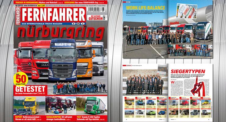Titelmontage FERNFAHRER Ausgabe 08/2015