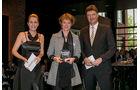 Trailerachsen, v. li.: Alexandra von Lingen, Anne Bentfeld, BPW Bergische Achsen KG, Werner Faas