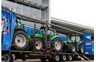 Transport von Traktoren