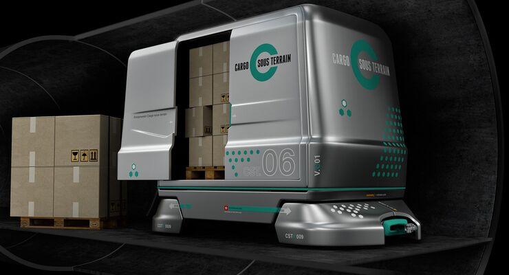 Transportfahrzeug von Cargo sous terrain
