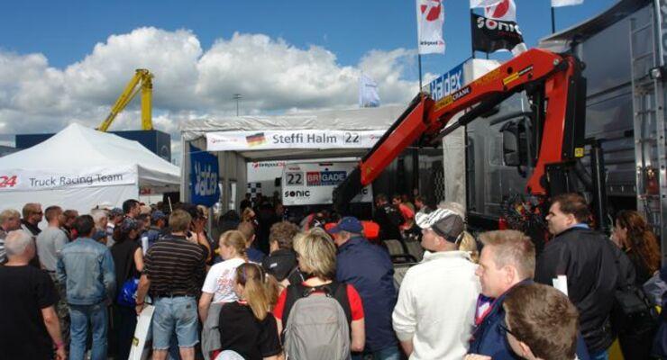 Truck-Grand-Prix, Truck Race, Lkw, Reparaturen, Fahrerlager, Halm