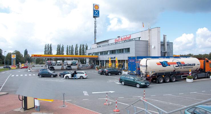 Truckstop, Autohof Bünde, A30, Außenansicht