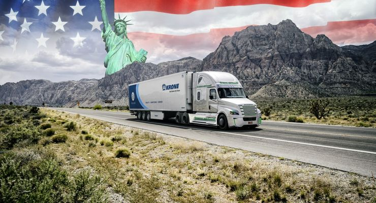 US Truck Freightliner New York Freiheitsstatue Krone trans aktuell