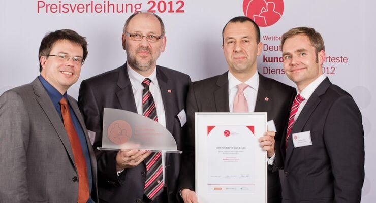 UTA Beste Dienstleister 2012